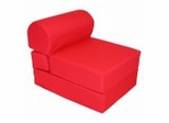 "Foam Furniture Kids Studio Chair Sleeper Jr. Twin 24"" in Red - 32-4300-608"