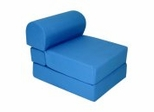"Foam Furniture Kids Studio Chair Sleeper Jr. Twin 24"" in Royal Blue - 32-4300-607"