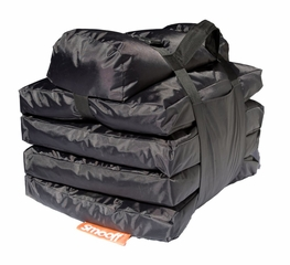 Foldable Lounge Mattress - SMOOFF Active - Stylish Black - SML20105SB