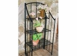 Folding Baker's Planter Rack - Black - Pangaea Home and Garden Furniture - FM-C4670-K