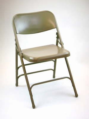 Folding Chair - Metal Folding Chair (Set of 4) in Beige - ACT3000ASBEIGE-SET