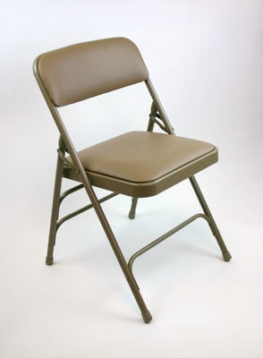 Folding Chair - Metal Folding Chair (Set of 4) in Beige - ACT3000AVBEIGE-SET