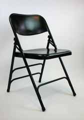 Folding Chair - Metal Folding Chair (Set of 4) in Black - ACT3000ASBLACK-SET
