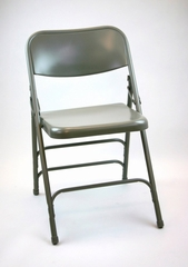 Folding Chair - Metal Folding Chair (Set of 4) in Grey - ACT3000ASGREY-SET
