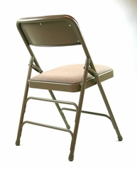 Folding Chair - Metal Folding Chair (Set of 4) with Fabric Seat and Back in Beige / Beige - ACT3000AFBEIGE-SET
