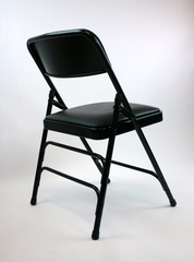Folding Chair - Metal Folding Chair (Set of 4) in Black - ACT3000AVBLACK-SET