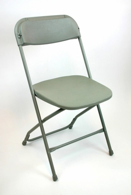 Folding Chair - Plastic Folding Chair (Set of 8) in Grey - ACT1000GREY-SET