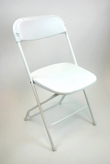 Folding Chair - Plastic Folding Chair (Set of 8) in White - ACT1000WHITE-SET