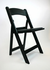 Folding Chair - Resin Wedding Folding Chair (Set of 4) in Black - ACT6000BLACK-SET