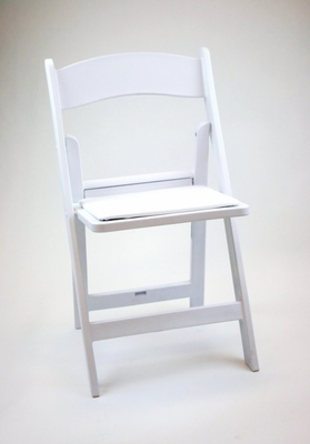Folding Chair - Resin Wedding Folding Chair (Set of 4) in White - ACT6000WHITE-SET
