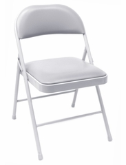 Folding Chair (Set of 4) - Padded Folding Chair - 8060GY-SET