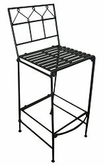 Folding Classic Iron Bar Stool - Black - Pangaea Home and Garden Furniture - FM-NT0026-K