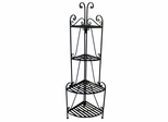 Folding Corner Bakers Rack Four Shelves - Pangaea Home and Garden Furniture - BT-FL007-K