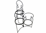 Folding Flower Rack - Pangaea Home and Garden Furniture - BT-FL002-K