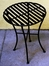 Folding Iron Side Table - Round Black - Pangaea Home and Garden Furniture - FM-C4853-K