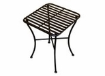 Folding Iron Side Table - Square Black - Pangaea Home and Garden Furniture - FM-C4854-K
