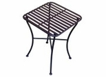 Folding Iron Side Table - Square Pewter - Pangaea Home and Garden Furniture - FM-C4854