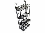 Folding Piper Bakers Rack Four Shelves - Pangaea Home and Garden Furniture - BT-FL005-K
