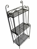Folding Piper Bakers Rack Three Shelves - Pangaea Home and Garden Furniture - BT-FL008-K