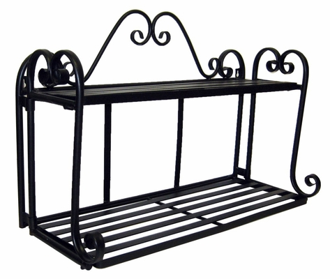 Folding Scroll Double Wall Shelf - Pangaea Home and Garden Furniture - BT-FR010-K