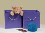 Folding Storage Bins (Set of 2) in Lavender with White Rope Handles - RiverRidge - 02-014
