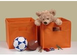 Folding Storage Bins (Set of 2) in Orange with Open Handles - RiverRidge - 02-013