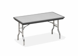 Folding Table - Charcoal/Chrome Legs - ICE65112