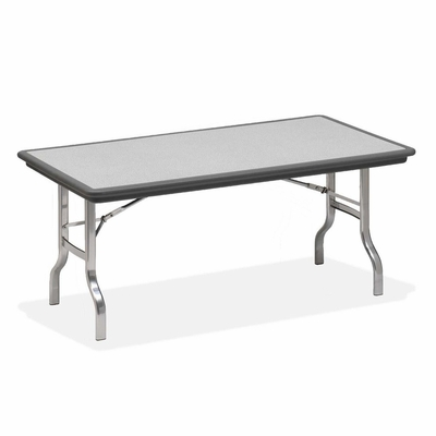 Folding Table - Charcoal/Chrome Legs - ICE65122