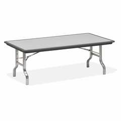 Folding Table - Charcoal/Chrome Legs - ICE65132