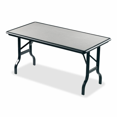 Folding Table - Granite/Black Legs - ICE65117