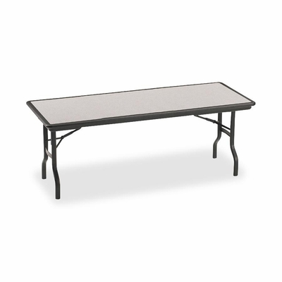 Folding Table - Granite/Black Legs - ICE65127