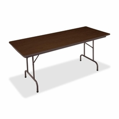 Folding Table - Walnut/Brown - BSXFTD3072WBRN