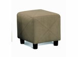 Foot Stool in Hunter / Green Microfiber - Coaster