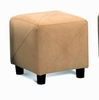 Foot Stool in Tan Microfiber - Coaster