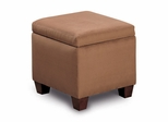 Foot Stool / Seating in Brown Microfiber - Coaster