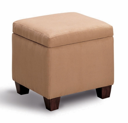 Foot Stool / Seating in Tan Microfiber - Coaster