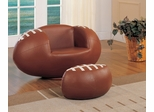 Football Chair and Ottoman Set - All Star - 05526