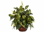 Forsythia and Mixed Greens Silk Plant - Nearly Natural - 6644