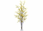 Forsythia with Vase Silk Flower Arrangement - Nearly Natural - 1254