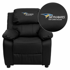 Fort Lewis College Skyhawks Black Leather Kids Recliner - BT-7985-KID-BK-LEA-41034-EMB-GG