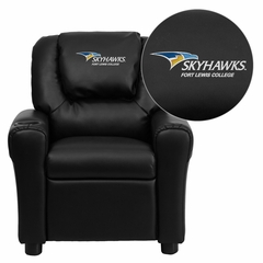 Fort Lewis College Skyhawks Black Vinyl Kids Recliner - DG-ULT-KID-BK-41034-EMB-GG