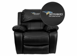 Fort Lewis College Skyhawks Leather Rocker Recliner - MEN-DA3439-91-BK-41034-EMB-GG