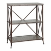 Foundry Antique Pewter Three Shelf Bookcase - Powell Furniture - POWELL-730-579