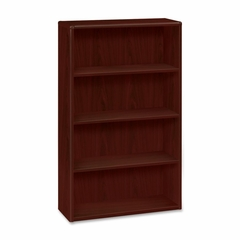 Four-Shelf Bookcase - Mahogany - HON10754N