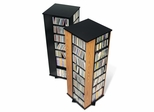 Four Sided Spinning Tower in Black - Prepac Furniture - BMS-0800