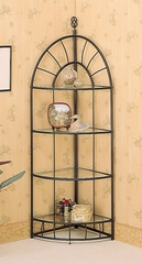 Four Tier Corner Rack in Sandy Black - Coaster