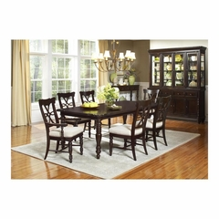 Fox Run 8 Pc Dining Set in Chocolate - Largo - LARGO-WG-D2370-DINING-SET