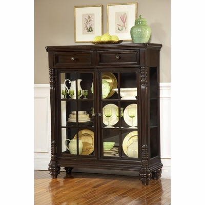 Fox Run Small Curio Cabinet in Chocolate - Largo - LARGO-WG-D2370-259