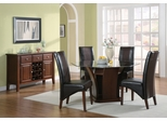 Foxborough 7-Piece Dining Room Furniture Set in Cherry - Coaster - 102241-5-DSET
