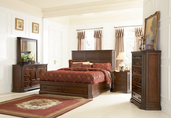 Foxhill California King Size Bedroom Furniture Set in Deep Cherry Brown - Coaster - 201581KW-BSET